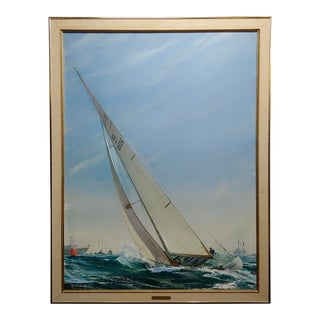 Kipp Soldwedel Victory 1974 Sailing Yacht Original Oil Painting For Sale