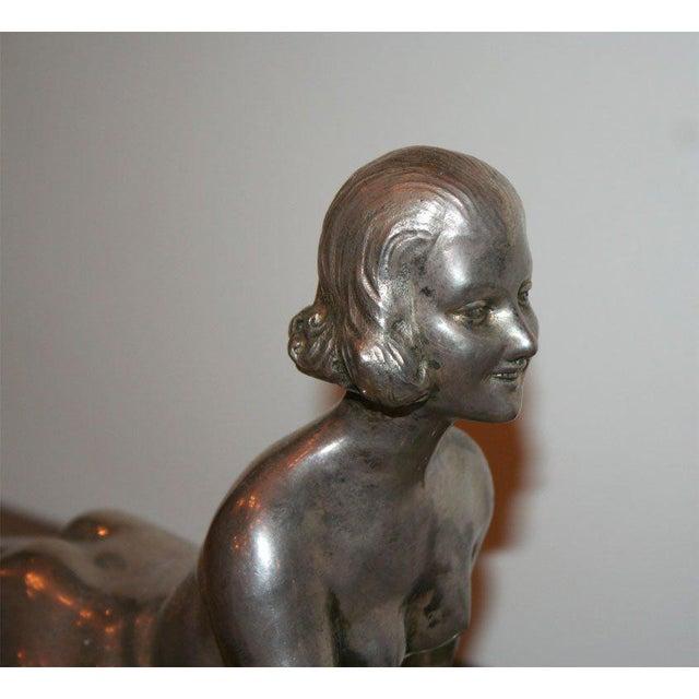 1920s Art Deco Bronze Sculpture by Joseph d'Aste For Sale - Image 5 of 8