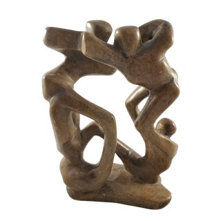 Vintage Mid-Century Hand-Carved Abstract Stone Sculpture For Sale