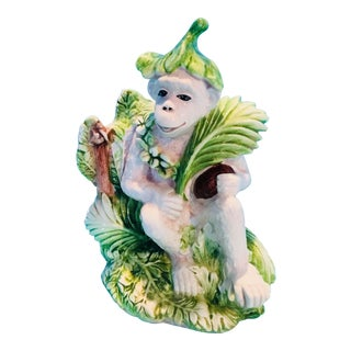 Italian Palm Leaf Monkey Bookend