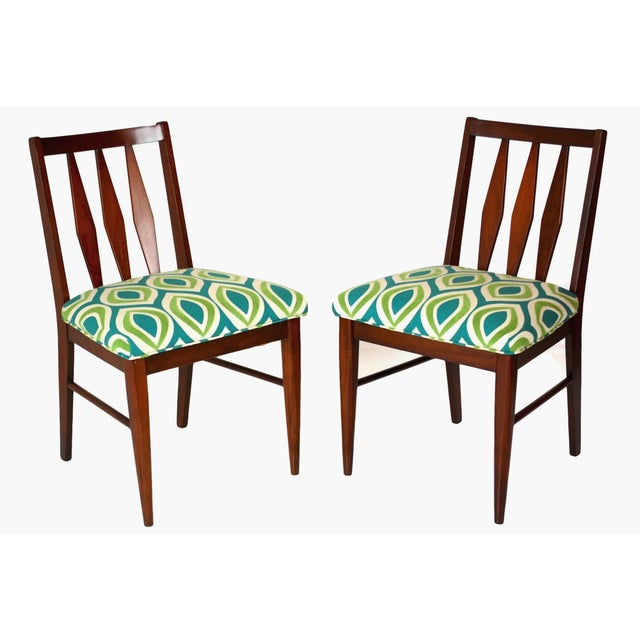 Mid-Century Teak Side Chairs- A Pair - Image 2 of 5