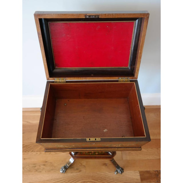 19th Century Regency Rosewood Workbox For Sale - Image 6 of 8