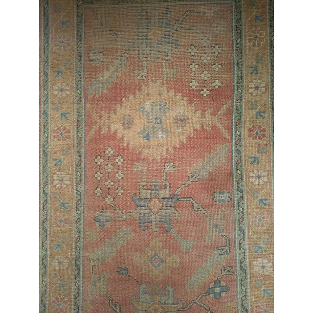 """Late 1800s Turkish Oushak Runner- 3' 5"""" X 14' 5"""" For Sale - Image 12 of 13"""