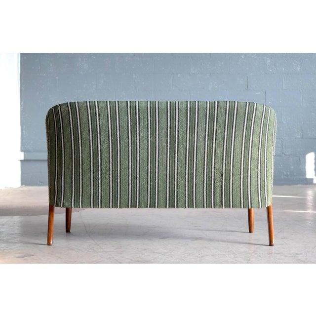 Green Danish Midcentury Sofa with Teak Armrests in the Style of Kurt Olsen for Bramin For Sale - Image 8 of 9