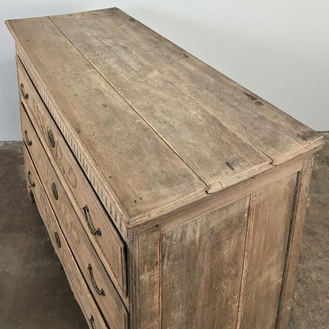 18th Century French Louis XVI Stripped Oak Commode For Sale In Dallas - Image 6 of 13