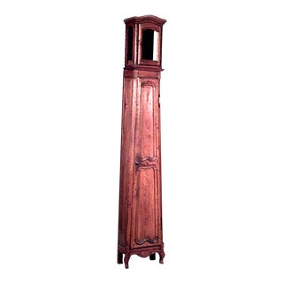 French Provincial Oak Grandfather Clock For Sale