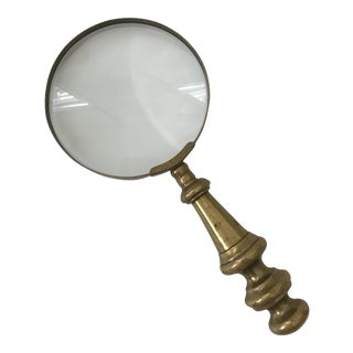 Magnifying Glass With Brass Handle For Sale