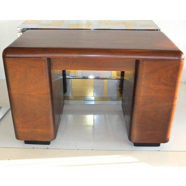 Paul Goldman 1940's Paul Goldman Bent Plywood Desk for Plymold Corp For Sale - Image 4 of 8