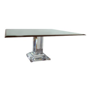 Jeffrey Bigelow Lucite Dining Table Base For Sale