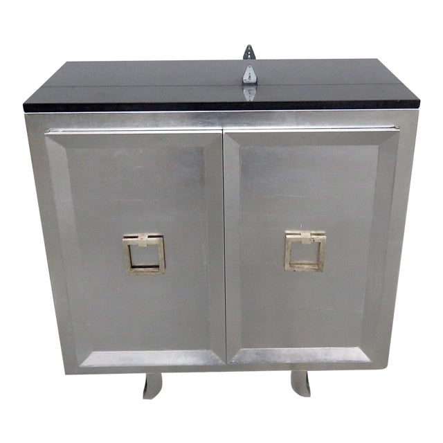 20th Century Art Deco Style Slate Top Commode For Sale