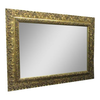 Gold Gilt Rectangular Mirror For Sale