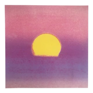 "Andy Warhol Foundation Pop Art Modernist Sunset Series Print "" Lavender Sunset "" 1972 For Sale"