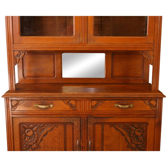 French Country Vintage French Cabinet & Hutch For Sale - Image 3 of 8