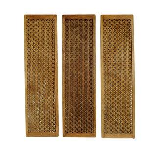 Decorative Wood Panel Set of Three For Sale