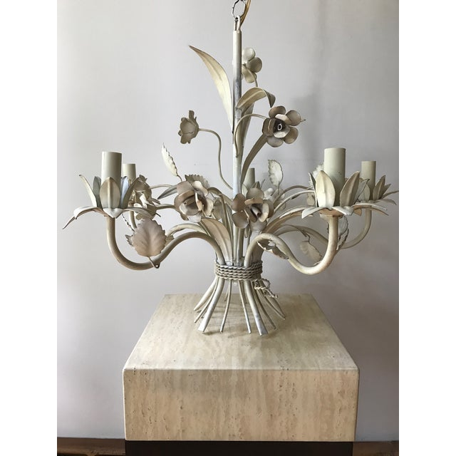 French tole chandelier chairish french tole chandelier image 4 of 10 mozeypictures Image collections