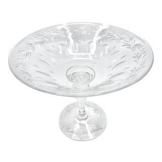 Antique Stuart Cut Crystal Compote For Sale
