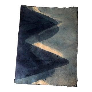 Natural Curiosities Dark Indigo Handmade Paper For Sale