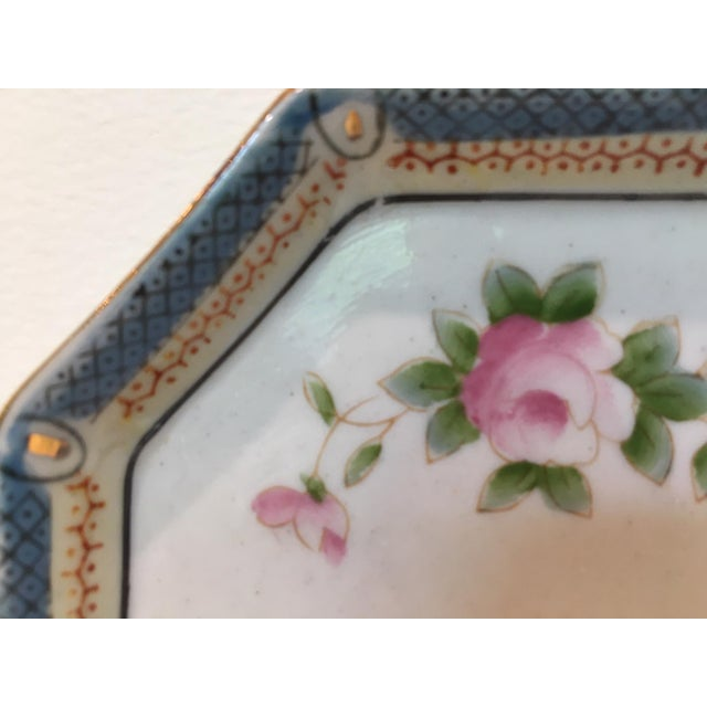 Octagonal China Vide-Poche/Coin Dish For Sale - Image 4 of 7
