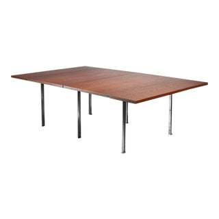 Rare Wenge and Stainless Steel Table by Preben Fabricius, 1970s For Sale