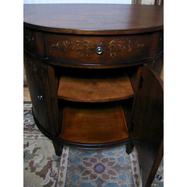 Ethan Allen Accent Table With Floral Design - Image 6 of 11