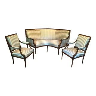 Louis XVI-style Salon Set - 3 Pieces For Sale