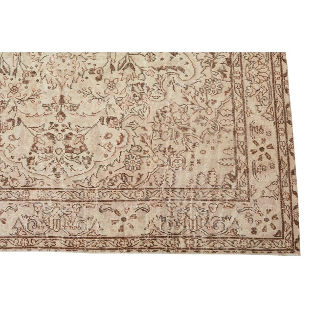 "Vintage Turkish Hand Knotted Rug - 9'10"" x 6'4"" For Sale - Image 4 of 5"