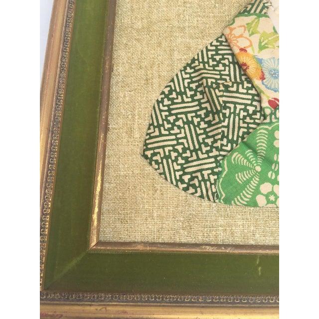 Mid Century Asian Portrait Textile Art Hand Stitched Chinoiserie ...