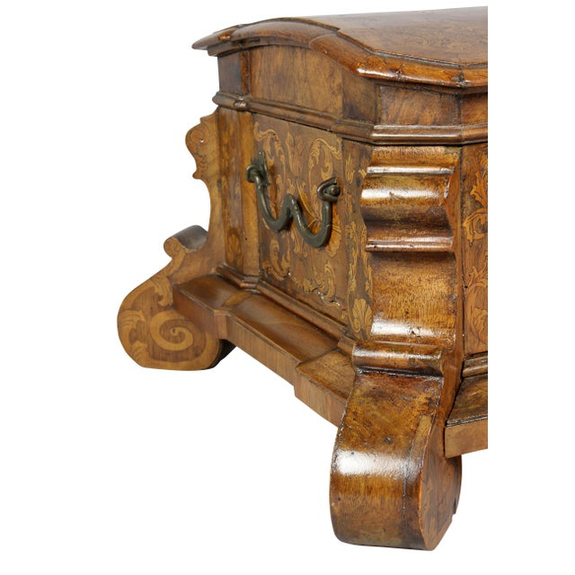 Dutch Rococo Walnut and Marquetry Document Box For Sale - Image 11 of 13