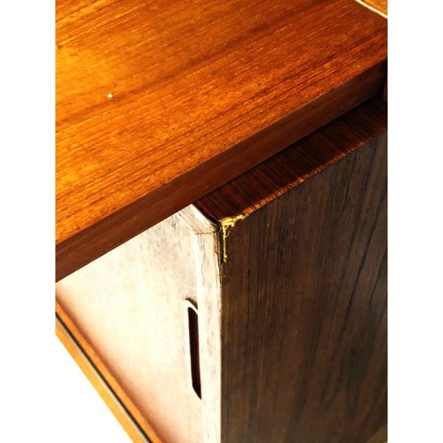 1970s Danish Modern Hundevad Teak Wall Unit Desk & Bookcase For Sale - Image 10 of 11