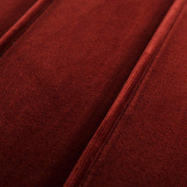 Contemporary Milan Ottoman in Merlot Velvet For Sale - Image 3 of 4