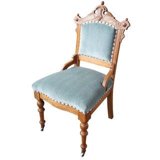 Antique Victorian Renaissance Revival Walnut Burl Parlor Accent Chair For Sale