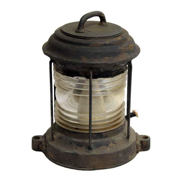 Nautical Lantern With Corning Glass - Image 6 of 7