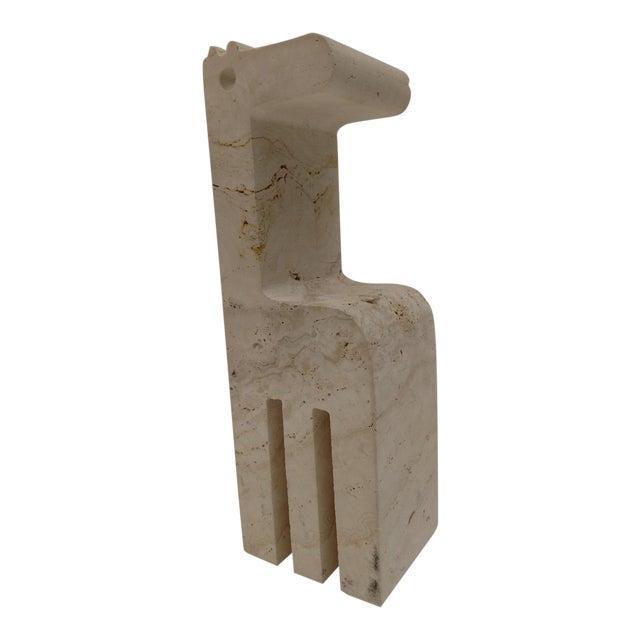 Raymor Travertine Giraffe Statue/Bookend, Mid-Century For Sale