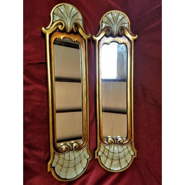 Early 20c Pair of Pier Mirrors by Thorvald Strom For Sale - Image 9 of 14