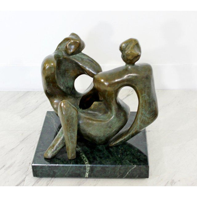 Late 20th Century Contemporary Bronze Woman Table Sculpture by Jean Jacques Porret Prologue 2/8 For Sale - Image 5 of 13