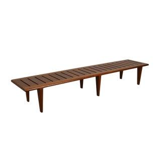 Hans Wegner for Johannes Danish Modern Teak Slatted Bench For Sale