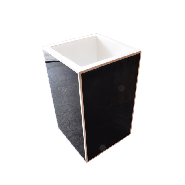 Black Lacquered Acyrlic Planter - Image 1 of 3