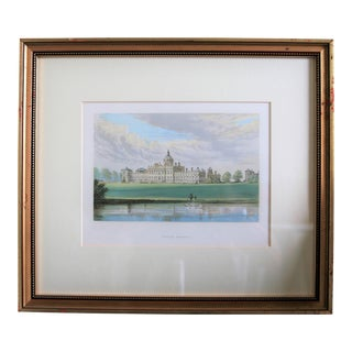 "1880 Antique English Estate ""Castle Howard"" Print Matted and Framed For Sale"