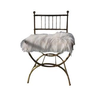 Italian Faux Mongolian Fur Accent Chair