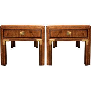 Campaign Thomasville Continuity Collection Side Tables - a Pair For Sale
