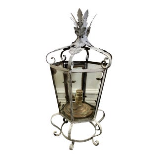 Antique French Wrought Iron Lantern For Sale
