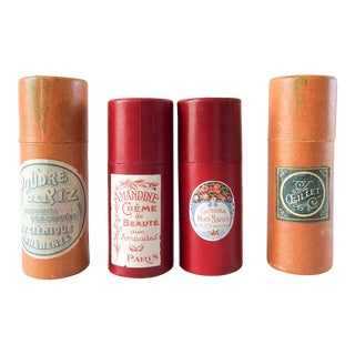 Vintage Collection of Powder Boxes - Set of 4 For Sale