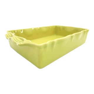 Late 20th Century Appolia French Provincial Lime Green Baking Dish Casserole For Sale