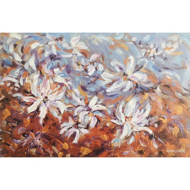 Large Original Expressionistic Floral Painting For Sale