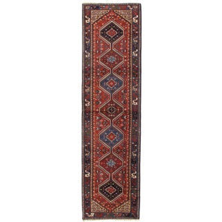 Vintage Persian Yalameh Hand-Knotted Runner Rug - 2′9″ × 10′2″ For Sale