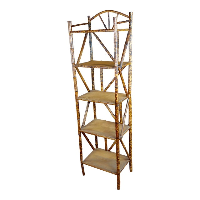 19th Century Original Victorian 5 Tier Bamboo Bookstand For Sale