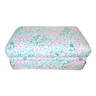 Hollywood Regency Pillow Top Ottoman For Sale