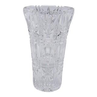 Art Deco Cut Glass Vase For Sale