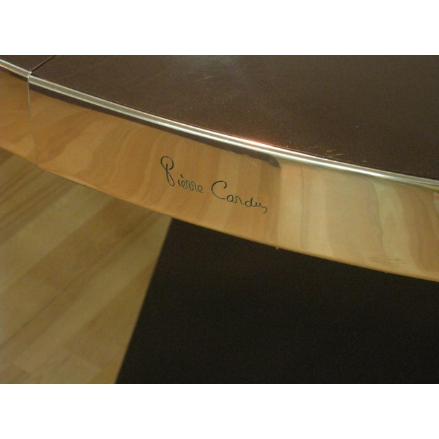 Brown 1970s Mid-Century Modern Pierre Cardin Chocolate Brown Dining Table For Sale - Image 8 of 12