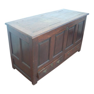 Antique Wood Storage Chest For Sale